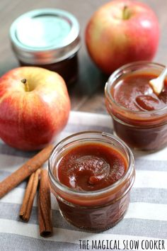 I had no idea how easy it would be to make Slow Cooker Apple Butter! Yes there is a bit of peeling and chopping, but with the slow cooker there is no watching and stirring involved. Slow Cooker Apples, Slow Cooker Recipes, Crockpot Recipes, Canning Recipes, Gourmet Recipes, Yummy Recipes, Butter Recipe, Butter Crock, Crockpot Apple Butter