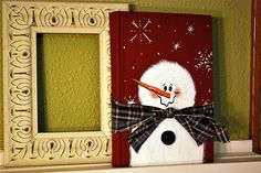 hand painted snowman book