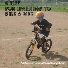 Teaching a Child to Ride a Two Wheeler {Tips}