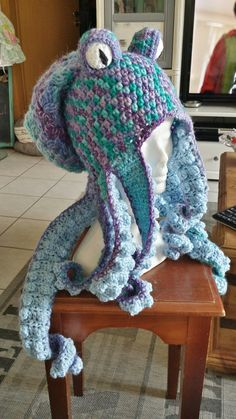Crochet octopus hat the pattern is sold in my etsy store TheTwistedHatter