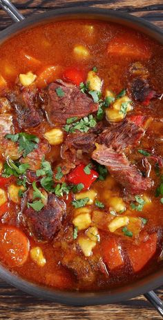 Slow cooker tomato-beef soup. Cubed beef with vegetables and spices cooked in a slow cooker. #slowcooker #crockpot #beef #dinner #toamto #soup #homemade #delicious