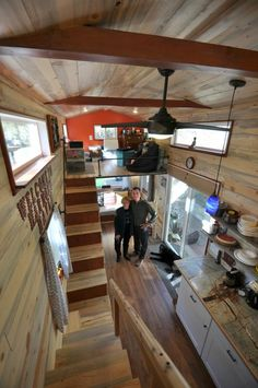 Kathi & Jim MacNaughton designed this 28' tiny house, then they had it built by Rocky Mountain Tiny Houses in Durango, Colorado.