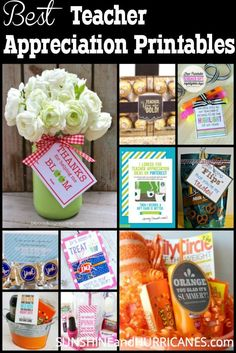 Everything you need to tell your favorite teachers how much you love them! Teacher gift ideas, teacher appreciation week, free printables, teacher printable, and end of year teacher present ideas for all ages. Share teh teacher love with these fun free printable gift ideas!
