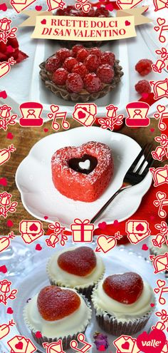 Valentines Day Gifts For Him, Valentine Day Crafts, Biscotti, Doughnut, Cupcake Cakes, Cake Recipes, Good Food, Food And Drink, Menu