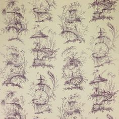 Manuel Canovas' Trianon 4817-03 manganese #manuelcanovas #toile #textile #fabric