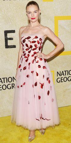Kate Bosworth in Oscar de la Renta Best Celebrity Dresses, Celebrity Red Carpet, Celebrity Style, Nice Dresses, Prom Dresses, Awesome Dresses, Long Dresses, Beautiful Dresses, Kate Bosworth Style