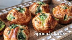 Spinach Puffs Recipe, Frozen Spinach Recipes, Spinach Puff Pastry, Puff Recipe, Frozen Puff Pastry, Puff Pastry Recipes, Vegetarian Appetizers, Appetizer Recipes, Seafood Appetizers
