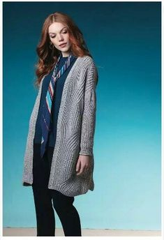 Ravelry: Brioche Rib Cardigan pattern by Norah Gaughan Ribbed Cardigan, Cardigan Pattern, Long Cardigan, Sweater Cardigan, Cable Cast On, Cashmere Yarn, Vogue Knitting, Needles Sizes, Shoulder Sleeve