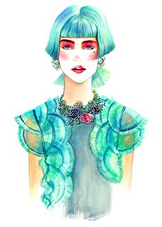 Sunny Gu, Fashion Illustration, Watercolour and Happiness