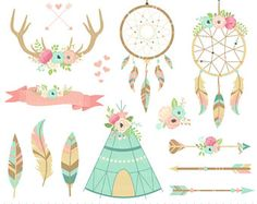 Shop for feather fabric on Etsy, the place to express your creativity through the buying and selling of handmade and vintage goods. Tribal Fabric, Clipart, Web Banner, Boho Baby, Wild Ones, Grafik Design, Craft Items, Antlers, Wind Chimes