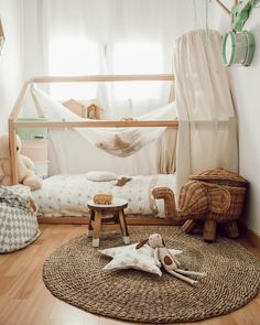 Apr 2020 - Adorably Functional and Budget-Friendly Long-searched Nursery Décor Ideas - CraftsPost Baby Room Design, Baby Room Decor, Nursery Room, Nursery Decor, Nursery Design, Montessori Room, Big Girl Rooms, Kid Spaces, Girls Bedroom