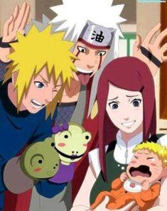Minato, Kushina, Jiraiya, and Naruto Anime Naruto, Naruto Comic, Naruto Shippuden Sasuke, Naruto And Sasuke, Sasunaru, Minato Kushina, Wallpaper Naruto Shippuden, Naruto Fan Art, Naruto Cute