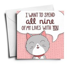 Show your friends and family how much they really mean to you with a pack of hand-illustrated, limited edition Say I love You Greeting Cards from Meowingtons! Valentine Day Messages Love, Valentines Day Love Quotes, Friends Valentines Day, Happy Valentines Day Card, Valentine Day Boxes, Valentines Greetings, Funny Valentine, Valentine's Day Greeting Cards, Cat Cards