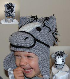 Hudson the Horse Animal Hats, Crochet For Kids, Infant, Crochet Hats, Horses, Children, Handmade, Character, Animals