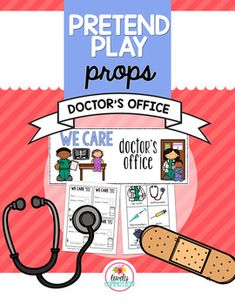 The Doctor is In Kids love pretending! Help facilitate this love, by adding some pretend play to your preschool classroom! Setting up an office space doesn't have to take a ton of time. Especially when you have this DOCTOR'S OFFICE Prop pack. Preschool Centers, Preschool Classroom, Classroom Ideas, Doctor Role Play, Play Grocery Store, Prop Box, Doctor Office, Dramatic Play, Childhood Education