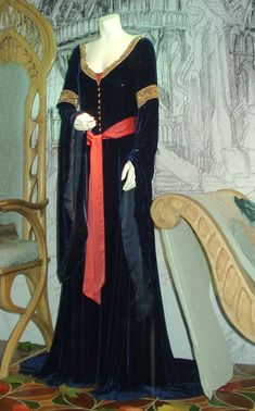 A gown Arwen wears in a vision of Aragorn's passing in The Lord of the Rings: The Two Towers.