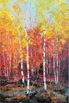 Red Wonder, 36 x 24, Oil on Canvas by Dean Bradshaw for a Scottsdale art gallery