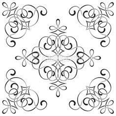 swirl outline design elements