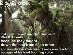 I did not know that Treebeard was based off of Mr. Lewis.