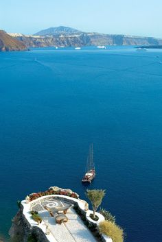 How may one not feel as though they are on the top of the world?  Imagine the seaside breeze, the sun's penetration upon your face, listening to the boats voyaging below or sit up and view the magnificent cliffs of Greece.