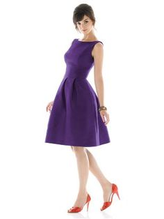Bateau neckline style in Majestic @Lacey Tsacudakis this is a dress for you.