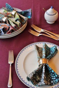 Batik dinner napkins