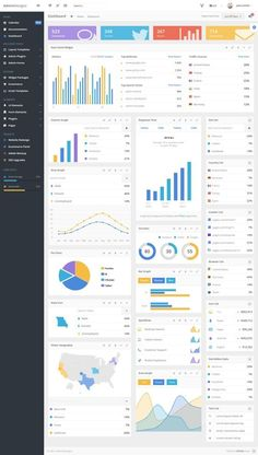Buy AdminDesigns - Bootstrap Admin Template Framework by AdminDesigns on ThemeForest. Financial Dashboard, Marketing Dashboard, Dashboard Interface, Dashboard Design, Interface Design, Executive Dashboard, Excel Dashboard Templates, Dashboard Examples, Colors