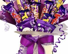 Chocolate Bouquet Cadburys Mix Sweet Gift Hamper | Etsy Chocolate Lindt, Luxury Chocolate, Chocolate Bouquet, Chocolate Galaxy, Chocolates Ferrero Rocher, Greeting Card Holder, How To Pass Exams, Teacher Thank You, Decorative Bows
