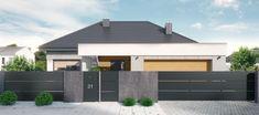 Balustrade Balcon, House Fence Design, Aluminum Fence, Front Fence, Dream House Interior, Door Accessories, Villa, Facade House, House Layouts