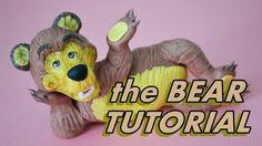 tutorial THE BEAR (MASHA) CAKE TOPPER FONDANT - MASHA E ORSO PASTA DI ZU...