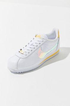 Nike Classic Cortez Gel Sneaker - Women's Sneakers Sneakers Fashion Outfits, Fashion Shoes, Women's Fashion, Nike Shoes, Shoes Sneakers, Women's Shoes, Cheap Womens Shoes, Zapatillas Casual, Nike Classic Cortez