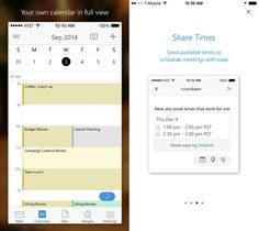 Microsoft new Outlook email app for iPhone and iPad looks to be the best mobile email client. #mobile #apps #Apple
