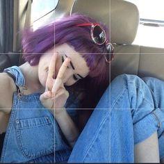 purpple hair