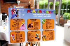 Another great Mario themed wedding seating plan!