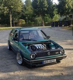 Volkswagen Golf Mk2, Vw Mk1, Vw Cabriolet, Golf Mk3, Rat Look, Old School Cars, Drag Cars, Custom Cars, Cars And Motorcycles