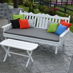 Outdoor A & L Furniture Yellow Pine Royal English Garden Daybed Cedar Stain