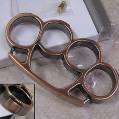 IRON FIST Brass Knuckles Knuckle Duster Two-Tone : Non-Lethal Weapons at GunBroker.com Knuckles Hand, Brass Knuckles, Snakebite, Assassins Creed Art, Punisher Skull, Lethal Weapon, Glass Breaker, Iron Fist, Knives And Swords