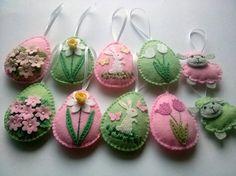 DELIVERY AFTER EASTER Felt Easter decoration felt eggs