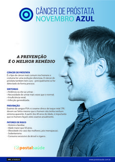 Cartaz para para campanha institucional sobre o câncer de mama e câncer de próstata. Novembro Azul