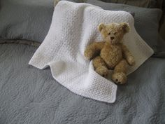 White baby blanket special ocasion blanket newborn baby blanket nursery afghan (45.00 USD) by OhBabyCrochetAndMore