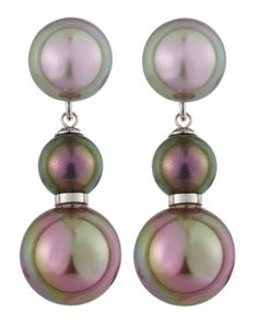 Pearl Drop Earrings by Majorica at Last Call by Neiman Marcus.