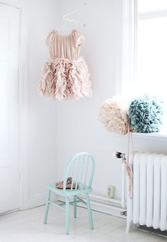 Pretty pastels, pom poms and tutus for a little girls room. Decoration Inspiration, Room Inspiration, Little Girl Rooms, Little Girls, Pretty Pastel, Kid Spaces, Kidsroom, Kids Decor, Girls Bedroom