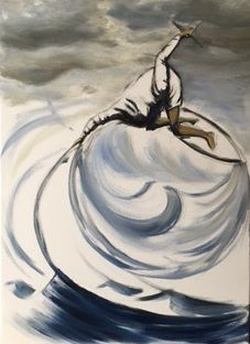 kitesurfer by OJAM oil painting #ojampainting #ojam #kitesurfer Kite, Paintings, Abstract, Artwork, Art Work, Work Of Art, Paint, Auguste Rodin Artwork, Painting Art