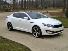 2013 Kia Optima with white rims | Kia optima, Kia motors ...