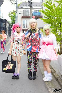 these three girls fun and colorfully dressed girls – Maro, Colomo, and Kanae