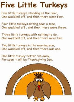 Five Little Turkeys poem