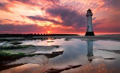awesome Picture Of Coast Lighthouse Sunset