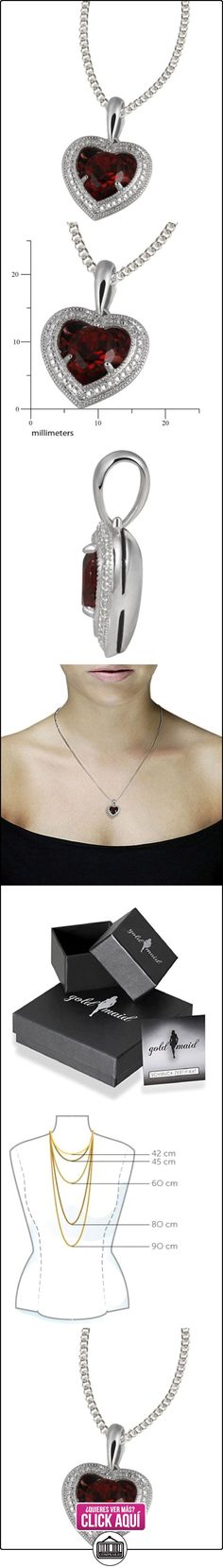 Goldmaid FaC4964S - Collar para mujer, con plata de ley (925/1000) y granate redondo, tamaño de 45 centímetros  ✿ Joyas para mujer - Las mejores ofertas ✿ ▬► Ver oferta: https://comprar.io/goto/B004WRHJMY