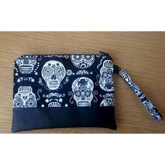 Glow in the Dark skulls pouch by HandmadeBySerena on Etsy