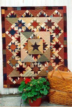 Picnic Quilt Pattern (I have the pattern) Sampler Quilts, Star Quilts, Scrappy Quilts, Mini Quilts, Quilting Projects, Quilting Designs, Quilting Ideas, Picnic Quilt, Primitive Quilts